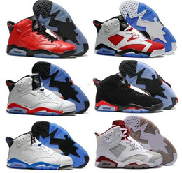 best best cheap basketball shoes  - Free Shipping Wholesale Cheap online hot Sale New Best basketball shoes Air Retro 6 VI Carmine Sneaker Sport Shoe VI US 8-13