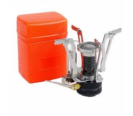 Wholesale Mini Gas Bbq - Outdoor Picnic BBQ Burner Stove Camping Gas Stoves Portable Folding Mini Burner Electronic Ignition with Box