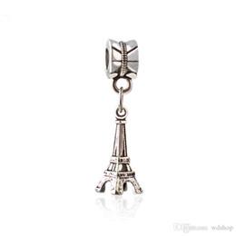 Wholesale Lampwork Cross Pendants - Vintage Ancient Silver Paris Eiffel Tower Pendant Charm Pendant Charm Fit Bracelet Diy Jewelry Accessories