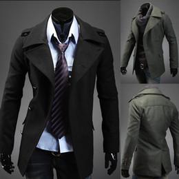 Wholesale Discount Coat Men - Free Shipping Brand New Homens Da Moda Casaco Stylish Men Single Breasted Discount Pattern Coats Jackets Wholesale