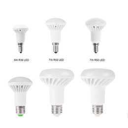 Wholesale E14 Mushroom - SMD 5730 R39 R50 R63 R80 LED Bulb E14 E27 5W 7W 9W 12W mushroom bulb Warm white Cold white LED Spot Lamp