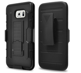 Wholesale Galaxy Grand Clip - Shock proof Armour case Hard Belt Clips Holster Kickstand Stand cover For Samsung Galaxy S7 S6 EDGE Core Prime Grand G360 G530 A3 A5 J5 J7