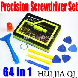 Wholesale Iphone4 Tools - Free shipping Wholesale 2013 new 64 in1 Multi-purpose precision Magnetic Screwdriver Set PC Notebook phone iphone4 Chaiji tools order<$18no