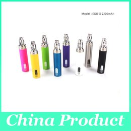 Wholesale Ego T Rechargeable Cigarette - E cigarette ego II battery 2200 mAh rechargeable ego t battery H2,IC30,ATTY,MT3 ego Atomizers 002639