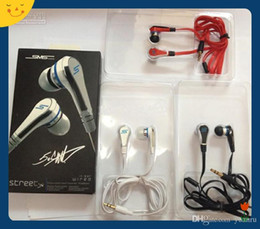 Wholesale Dhl Sms Street - 50PCS DHL Fashionable SMS Audio 50 cent In-Ear headphones Mini 50 cent with mic and mute button earphone STREET by 50 Cent earbud 3 colors