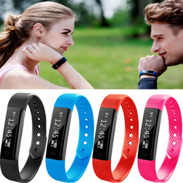Wholesale Kid Gps Tracking Watch - ID115 Smart Wristband Fitness Tracker Watch Alarm Clock Step Counter Smart WristbandBracelet Bluetooth Sport Sleep Monitor Track