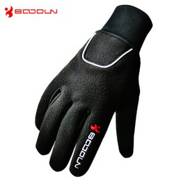 Wholesale Cold Winter Gloves - Warm Winter Bike Gloves Full Finger Winter Waterproof Anti-Cold Riding Full Finger Gloves Slip Resistant Breathable Sports gloves