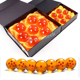 Wholesale Dragonball Box - 4CM In Diameter Dragon Ball New In Box DragonBall 7 Stars Z Crystal Balls Set of 7 Pcs With Retail Box Animation Free DHL UPS Factory Direct