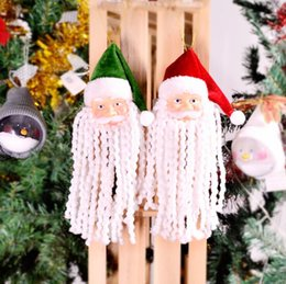 Canada Poupées de Noël fournitures de décoration de Noël en gros Noël barbe Père Noël vieux pendentif en tissu poupées ornement top qualité bateau gratuit Offre