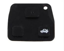 Wholesale Toyota Rav4 Car Keys - KLT Replacement 2 Buttons   3 Buttons Car Remote Key Black Rubber Pad For TOYOTA Avensis Corolla Lexus Rav4 2 3 RUBBER Free shipping