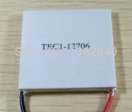 Wholesale Wholesale Thermoelectric - Wholesale-Free Shipping 10pcs lot TEC1-12706 Thermoelectric Peltier Water Cooler TEC1 12706 Heatsink