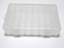 Wholesale Plastic Storage Beads - Clear Plastic Box Case 24 compartments Beads Display Storage Container 200X135mm