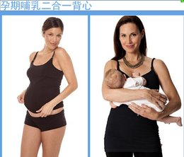 Wholesale Maternity Clips - Free shipping 120pcs drop cup Seamsles Clip Down Nursing High Quality Stretchy Front Open Nursing Tank Maternity vest 5size