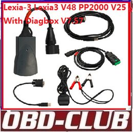 Wholesale lexia free shipping - Newest Vesion Lexia-3 Lexia3 V48 PP2000 V25 With Diagbox V7.57 Software For Citroen Peugeot Diagnostic free shipping