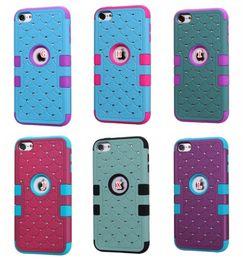 Bling Diamond Hybrid Case per iPod Touch 6 6G 6th 5 5G Starry Hard Plastic Soft Silicone Fashion Antiurto Strass Armatura Heavy Diamond da gel diamante fornitori