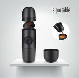Wholesale Manual Hand Press Machine - Hand-press Manual Espresso Coffee Maker Stainless Steel Mini Portable Coffee Machine