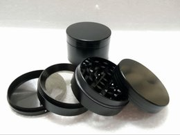 Wholesale Chrome Piece - Best quality herb grinders 4 piece black chrome red colors grinders for herbs wholesale with Pollen Scraper free shipping