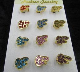 Wholesale Pin Sun - 12pcs set Gold Plated Alloy Diamante Crystal Rhinestone Sun Flowers and other Different Styles Pin Brooch 10 sets for choices