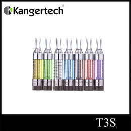 Wholesale Atomizer Cartomizer Replaceable Coil - Kanger tech T3s atomizer dual coil clearomizer kanger T3s 3ml atomizer kanger T3s cartomizer free shipping