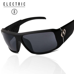 Wholesale Sun Logos - Wholesale-Men electric sunglasses fashion Sport sunglasses Man Women UV400 Eyewear Sun Glasses oculos de sol ELECTRIC glasses brand LOGO