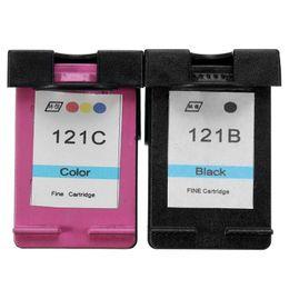 Wholesale Deskjet Cartridges - 2pk Ink Cartridge for HP121 121xl for HP Deskjet F2560 2568 4280 4238 5145 5150 5552 D1460 D1470 D2330 D2360  D2430  D2460