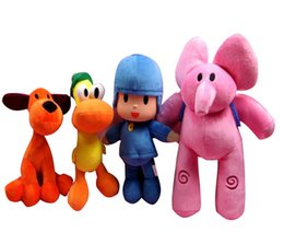 Wholesale Large Pato Toy - Plush Pocoyo Plush Doll Large Doll Lovely Pato Elly Loula Cartoon Figure Toys plush doll ELLY ELEPHANT TOYS cute movie cartoon