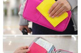 Wholesale Korean Dark Blue Dress - Passport Holder Organizer Wallet multifunctional document package candy travel wallet portable purse business card holder New style DHL LB1