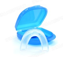 Wholesale Packing Trays - Wholesale 500PCS Anti Snore Apnea Kit Boil bite anti snore mouth tray Snoring Stopper Solution Device Stop Snoring Mouthpiece opp packing