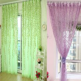 Wholesale Top Quality Sheer Curtains - Kimisohand 2015 New High quality Willow Tulle Door Window Curtain Drape Panel Sheer Scarf Valances Freeshipping