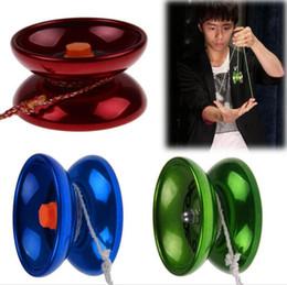 Trucos yoyo 1a online-Comercio al por mayor nuevo luminum diseño profesional YoYo Ball Bearing String Trick aleación niños + cadena al azar, juguetes de la diversión