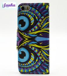 Wholesale Iphone 5g Case Design - 2016 New Arrival Leather Case For iPhone 5G 5S 7 6 6s Custom Design Printing Owl Holder Pock Magnet Wallet Back Cover