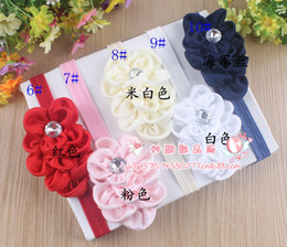 Wholesale Hairband Hair Ornament Headband - satin Ruffled Scales headdress flower baby girls headband child toddler hair accessories infant hairband with rhinestone children ornaments