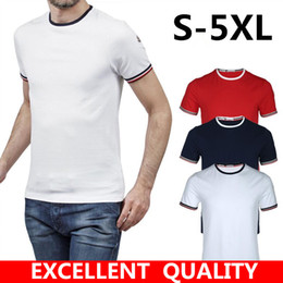 Wholesale Breathable Undershirt - Mens T Shirt Brand LOGO Embroidery High Quality 2017 Men Casual Undershirt Solid Cotton Hip Hop T-shirt Fitness Tshirt Homme Brand Clothing