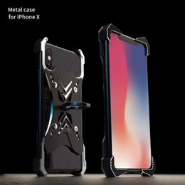 R-JUST Aluminium dur en métal Bumper Mobile Phone Case pour Apple Iphone 6s 6 plus 7 7 Plus 8 plus iphone x protecteur cadre CoverRing titulaire ? partir de fabricateur