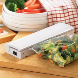 Wholesale Portable Bag Sealers - Portable Reseal And Save handy Plastic Food Saver Storage Bag Sealer Keep food fresh & reduce waste vacuum packer free shipping A3