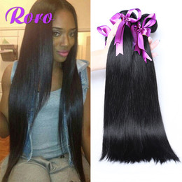 Wholesale Chinese Hair Ordering - 7A Virgin Peruvian Human Hair Weft 100% Unprocessed Hair 8inch to 28inch Mix Order 4pcs 400g 8inch to 28inch Natural Straight Hair Weaves
