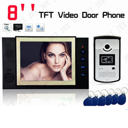 "Wholesale Wireless Home Intercom Doorbell System - Video Recording photo taking Home Security 8"" TFT Video Door Phone Doorbell Entry Intercom System"