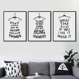 Wholesale Quotes Beauty - Originality Minimalist Black White Typography Fashion Beauty Quotes A4 Art Print Poster Wall Picture Canvas Paintings Home Decor