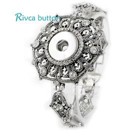 Wholesale Vintage 14k Gold Charm - P00713 Hot Wholesale Snap Bracelet&Bangles Newest Design Chain Antique Silver Plated Vintage noosa chunks Bracelet FIt Snaps Button Jewelry