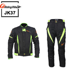 Wholesale Motorcycle Jacket Nylon Waterproof - 2016 Riding Tribe JK37 Motor motorcycle body armor jacket and pants Racing jaqueta motocicleta moto motocross