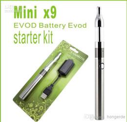 Wholesale Mini Cartomizer - retail MINI X9 Protank EVOD battery Blister pack electronic cigarette starter Kit, Mini Ptk Cartomizer Atomizer+ Evod Battery 650mah 64