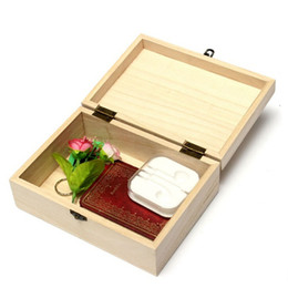 DIY Home Storage Box Natural Wooden With Lid Golden Lock Postcard Home  Organizer Handmade Craft Jewelry Case 17.5*12.5*6.5cm Q171128 From  Dropshipping ...