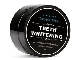Wholesale Wholesale Smoking Bottles - 100% Natural Organic Activated Charcoal Natural Teeth Whitening Powder Remove Smoke Tea Coffee Yellow Stains Bad Breath Oral Care 30g bottle