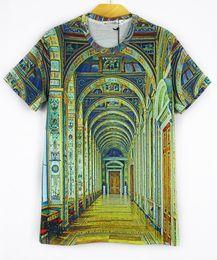 Wholesale Loose Galaxy Shirts Short Sleeve - Women men Space Galaxy Print t shirt Fashion Loose Short Sleeve 3d T shirt Tees Tops free shipping plus size M L XL XXL