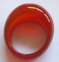 Roter ovaler achat online-2017 neue populäre natürliche achat schöne rote farbe oval ringe versandkostenfrei