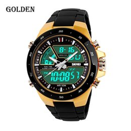 Wholesale Tan Sport Watch Plastic - SKMEI men's sport watch brand Students blocks LED mens watches electronic watches more colors to choose