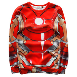 Wholesale Marvel Sweatshirt Top - Wholesale-Raisevern 2015 new 3D hoodie print Avenger hero Iron man sweatshirt marvel animation cool hoodies crewneck streetwear sweat tops