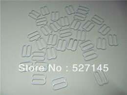 Wholesale Bra Sliders - 500Pcs Lot White Coated Garter & Bra Adjusters Bra Strap Sliders Slides Bra Strap Adjustment Buckle Slide 10mm free shipping