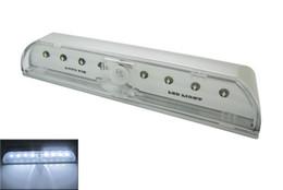 Trou de serrure automatique a mené la lumière en Ligne-Auto Pir Keyhole Super Blanc Capteur De Mouvement 8 Leds Porte Serrure Led Lampe Ampoule 20pcs / lot