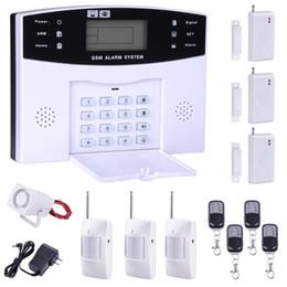 Wholesale Door Sms - 2016 New Home Alarm System GSM SMS Burglar Security Alarm System Wireless LCD Screen Detector Sensor Kit